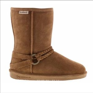 Bearpaw Adele Hickory Braided Suede Boots